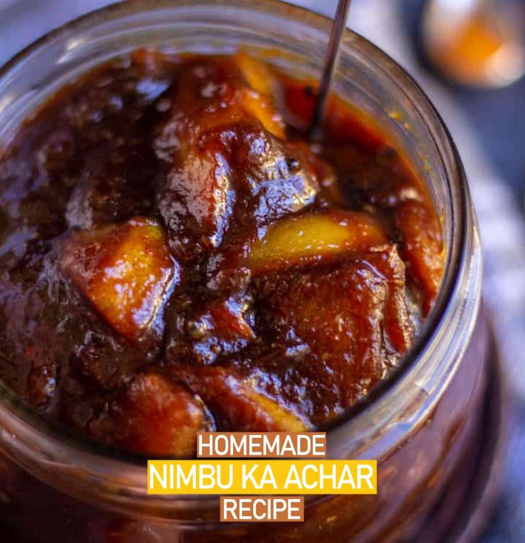 Homemade Nimbu ka Achar Recipe